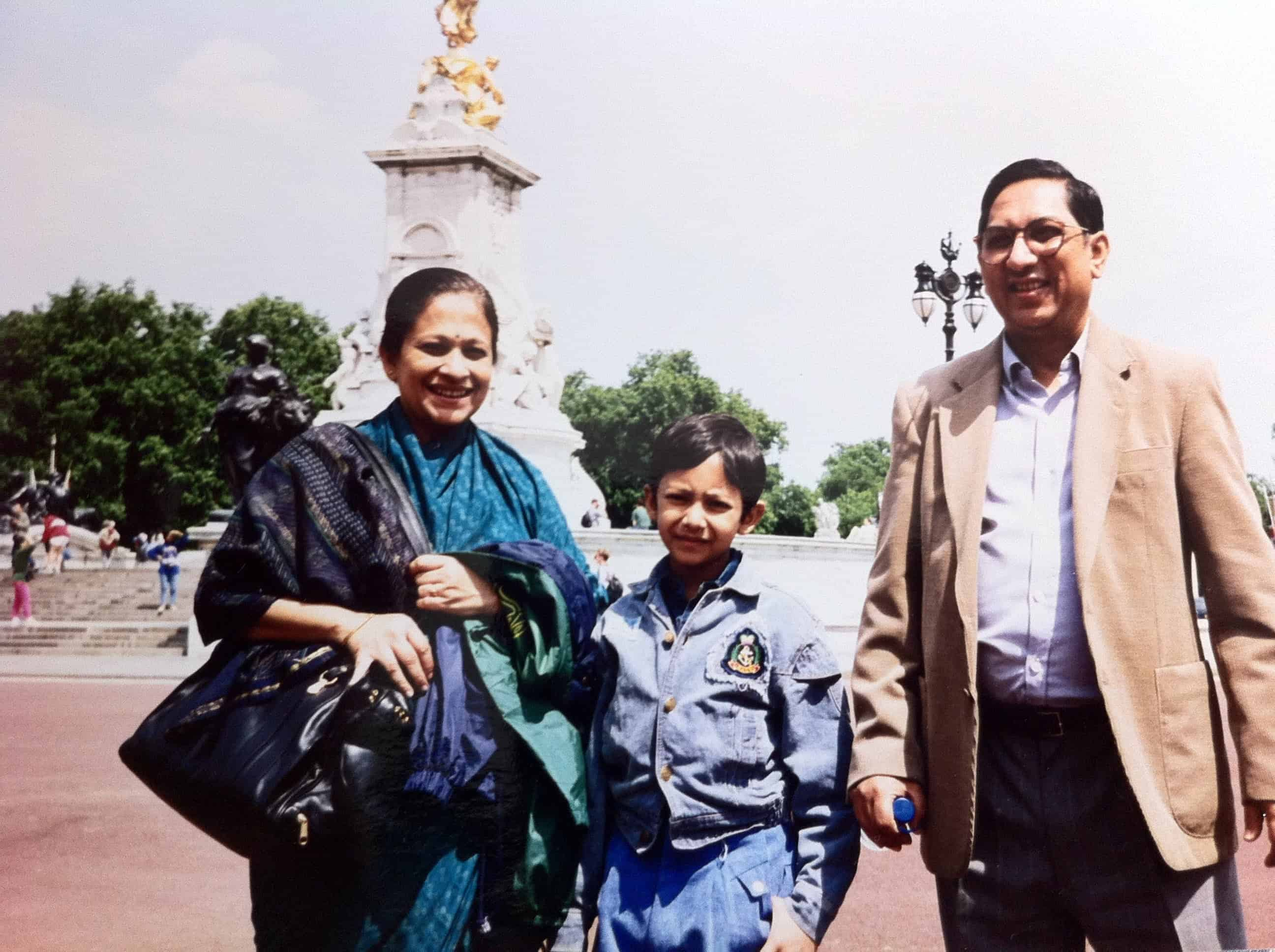 Young Ranajay traveling to London with his family