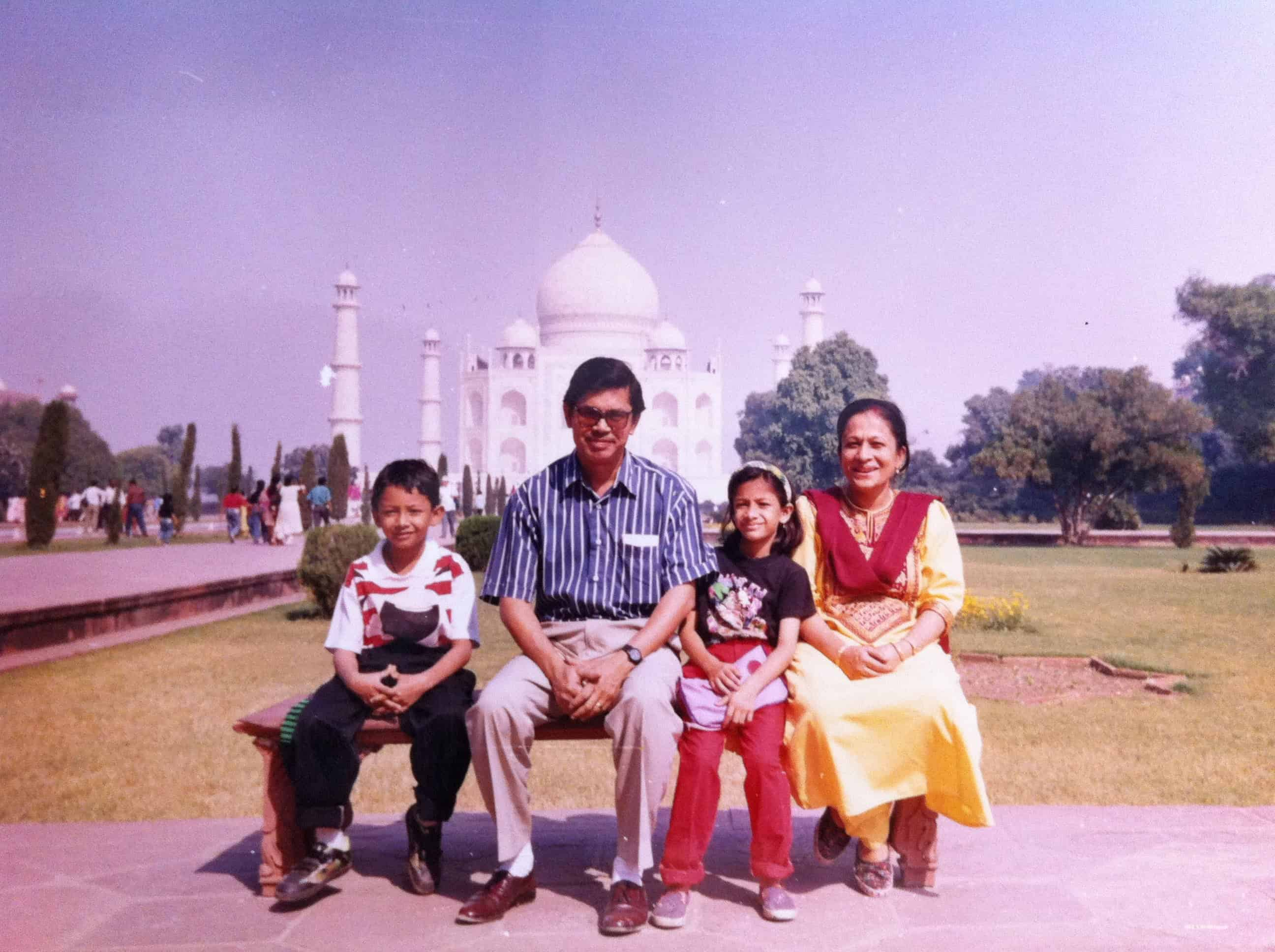 Young Ranajay traveling to Taj mahal with his family